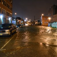 USA, NYC - Hurricane Sandy during