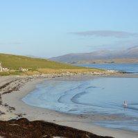 Scotland, Berneray Island - Going for a swim